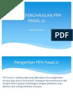 Pajak Penghasilan Pph Pasal 21