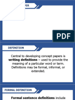 Writing Concept Papers PPT