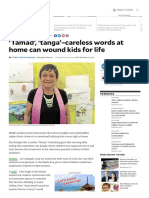 'Tamad', 'Tanga'–Careless Words at Home Can Wound Kids for Life _ Inquirer Lifestyle