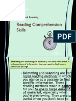 Reading Comprehension - Overview of Skimming and Scanning