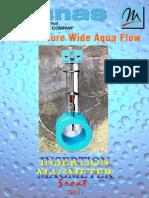 Insertion type electromagnetic flow meter SROT-1000i