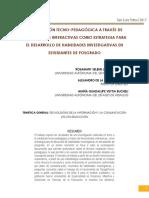 LA MEDIACIÓN TECNO-PEDAGÓGICA A TRAVÉS DE HERRAMIENTAS INTERACTIVAS COMO ESTRATEGIA PARA EL DESARROLLO DE HABILIDADES INVESTIGATIVAS EN ESTUDIANTES DE POSGRADO - Lara, Martínez y Veytia