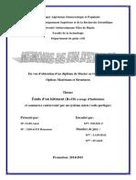 Étude d'un bâtiment R+10 a usage d'habitation et commerce contreventé par un système mixte voile-portique.pdf