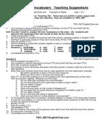 TBW Transport Vocabulary TS