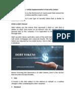 Debt Security Tokens | Security Token Offering | Types of Security Tokens