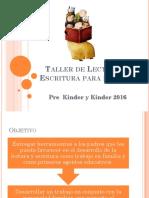 Taller de Lectura y Escritura Para Padres