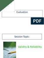 Evaluation Topic