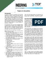 FE 3800 Topics in Acoustics