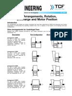 FE 3900 Fan Arrangements Rotation Discharge Motor Position