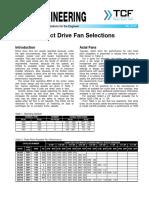 FE 2700 Direct Drive Fan Selections