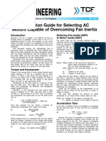 FE 1800 Application Guide for Selecting AC Motors Capable of Overcoming Fan Inertia