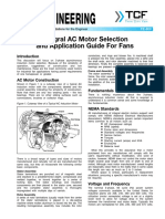 FE 800 Integral AC Motor Selection and Application Guide for Fans