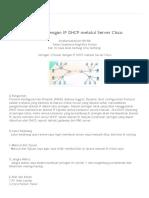 B' N e T_ Jaringan 2 Router Dengan IP DHCP Melalui Server Cisco
