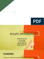 Acrylic Emulsions (2)