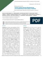 Validación de La Fórmula Chronic Kidney Disease Epidemiology Collaboration (CKD-EPI) en La Insuficiencia Renal Crónica Avanzada