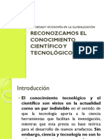 Reconozcamos El Conocimiento Científico y Tecnológico