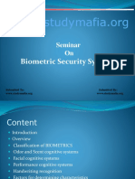 CSE Biometric Security Systems Ppt