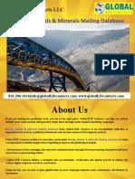 Mining, Metals & Minerals Mailing Database
