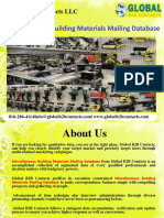 Miscellaneous Building Materials Mailing Database