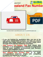 New Zealand Fax Number Data