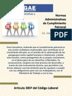 Normas Administrativas de Cumplimiento Patronal