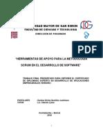 Herramientas de Apoyo Para La Metodologia Scrum en El Desarrollo de Software