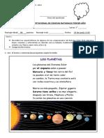 3° Ciencias EVALUACIÓN INSTITUCIONAL JUNIO