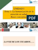 1 Unidad i La Humanización de La Atención en Salud. Bases Conceptuales