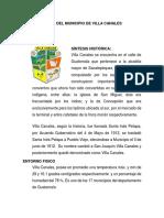Datos Del Municipio de Villa Canales