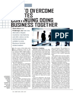 How to Overcome Disputes Continuing Doing Business Together