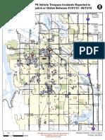 Fort Collins vehicle trespass heat map