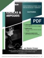 Escalas y Arpegios Para Guitarra
