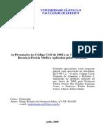 As Presunções No Código Civil de 2002 e as Consequências Da Recusa à Perícia Médica Aplicadas Pelos Tribunais - Livreto