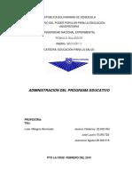 Administración Del Programa Educativo