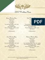 Kingsbury - Wedding Packages 17-18