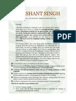 Biography Prashant Singh