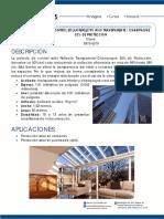 Pelicula de Control Solar Reflectiv Transparente 52 Porciento Proteccion Clave 3810 0210