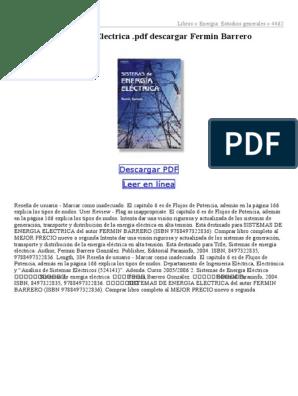 Sistemas de energía eléctrica fermin barrero pdf