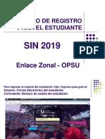 Modulo de Registro SNI 2019 Para El Estudiante