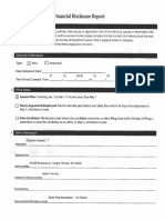 Rep. Yancey financial disclosure form
