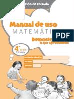 Matemática, Manual de uso demostrando lo que aprendimos. Kit de evaluación de entrada. 4to. grado de primaria.pdf