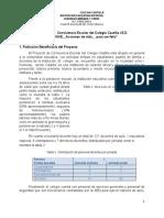 Proyecto de Convivencia Escolar Del Colegio Castilla i.e.d 2018