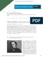 Baudelaire el encuentro del mal