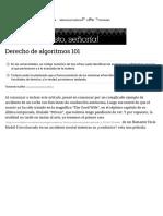 Derecho de Algoritmos 101