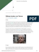 Últimas Tardes Con Teresa _ El Blog Del Puig
