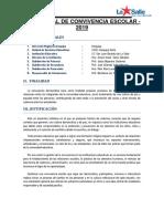 Plan Anual de Convivencia Escolar-2019 San Juan