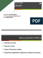 Legal Aspects of Entreprenurship