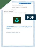 EPANET Est Un Logiciel de Simulation Du Comportement Hydraulique Et Qualitatif de l