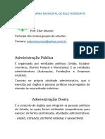 Aula Administração Pública Direta e Indireta