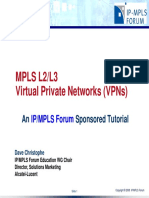 MPLS L2_L3 Virtual Private Networks Tutorial